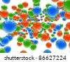 colorful bright spheres - stock photo