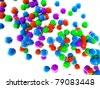 Colorful bright spheres background - stock photo