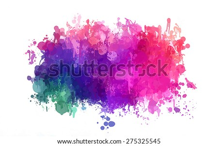 Colorful brush strokes cloud. Raster version - stock photo