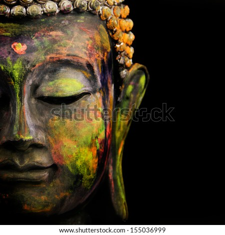 colorful Buddha - stock photo