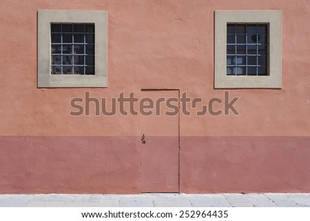Colorful building in Italy - stock photo