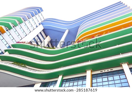 Colorful building of the Siriraj Hospital. Public places. - stock photo