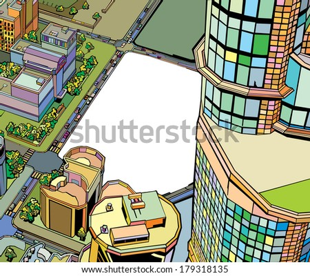 colorful building urban city - stock photo