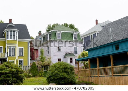 Colorful Buildings - Lunenburg - Nova Scotia