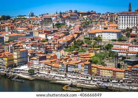 colorful buildings of Porto. Portugal