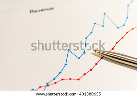 Colorful business charts - stock photo