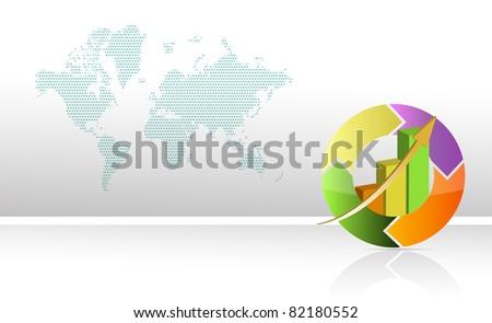 colorful business circular chart - stock photo