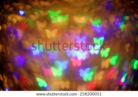 colorful butterfly bokeh background - stock photo