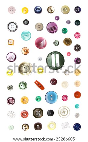 colorful button - stock photo