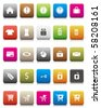 Colorful Button -- Online Shopping Icon Set - stock photo