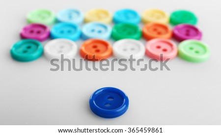 Colorful buttons, isolated on white