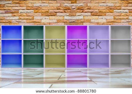 colorful cabinets . - stock photo