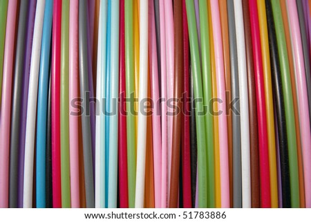 colorful cables