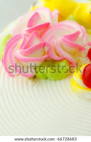 Colorful cake decoration - stock photo