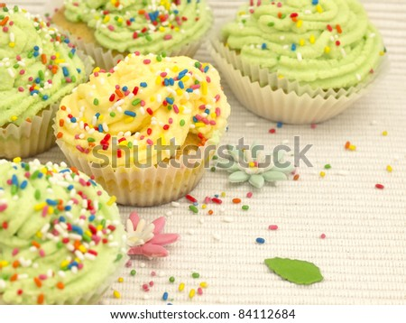 colorful cakes - stock photo