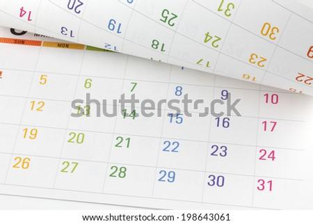 Colorful calendar - stock photo