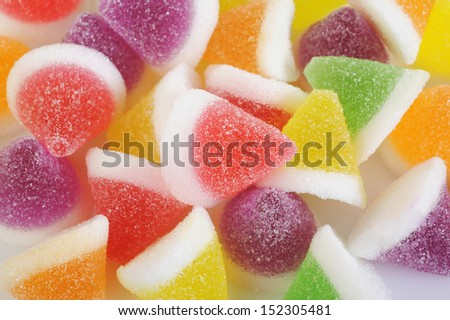 colorful candied fruit jelly