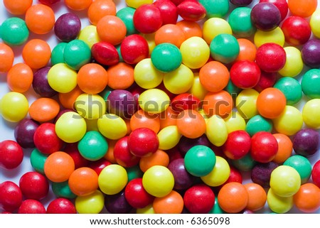 colorful candies as background
