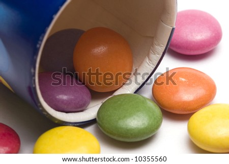 colorful candies in a box - stock photo