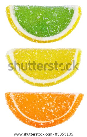 Colorful Candies isolated on white background - stock photo