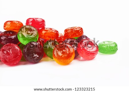 colorful candies on a white background
