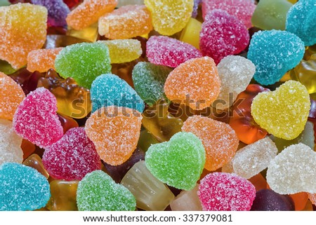 Colorful candy background - stock photo