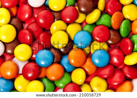 Colorful candy closeup as background  - stock photo