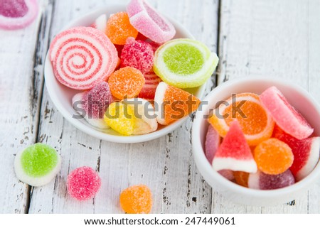 colorful candy delicious - stock photo