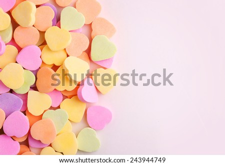 Colorful candy hearts  - stock photo