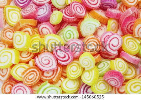 Colorful Candy in a Large Pile as a Abstract - stock photo
