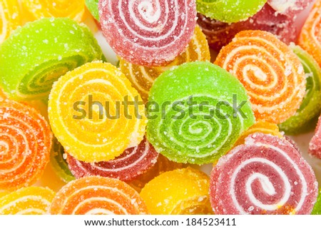 colorful candy - jujube  - stock photo