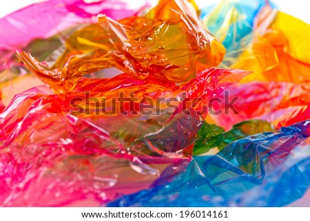 Colorful candy wrapper - stock photo