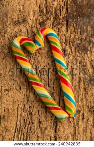 colorful cane sugars - stock photo