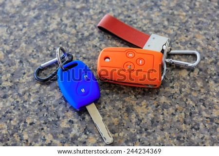 colorful car keys - stock photo