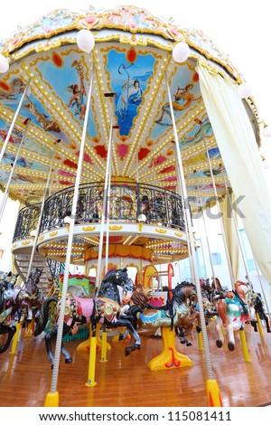 Colorful carousel - stock photo