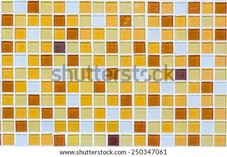 Colorful Ceramic Tile on floor - stock photo