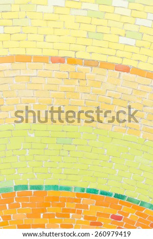 Colorful ceramic tiles texture with white filling - stock photo