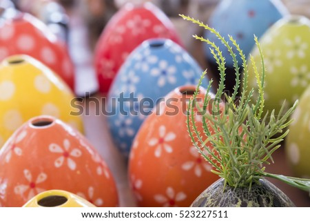 Colorful ceramic vase background
