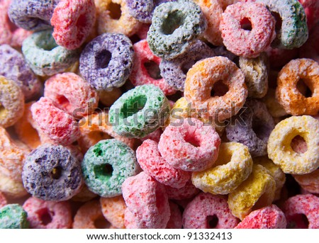 Colorful cereal background - stock photo