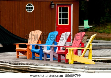 Colorful chairs - stock photo