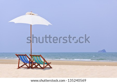 Colorful  chairs on tropical beach
