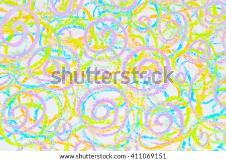 colorful Chalk texture pastel stick dust - stock photo