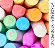 Colorful chalks as a background image - stock photo