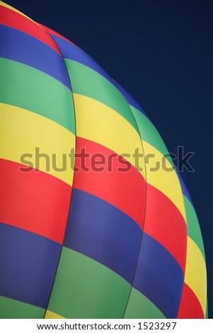 Colorful Checkered Hot Air Balloon Closeup - stock photo