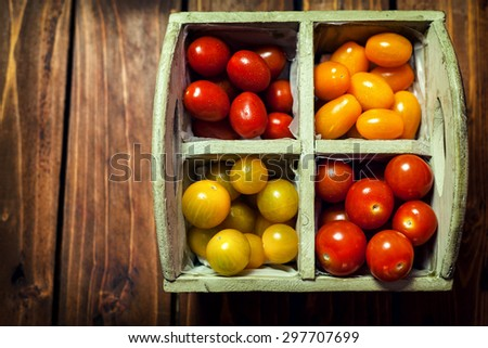 Colorful  Cherry Tomato - stock photo