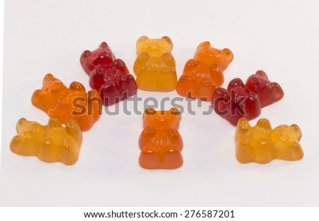 colorful chewy candy - stock photo