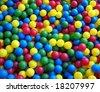 Colorful child balls - stock photo