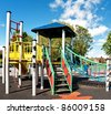 Colorful Children's Playground, uk - stock photo