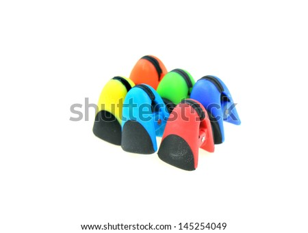 Colorful chip bag clips
