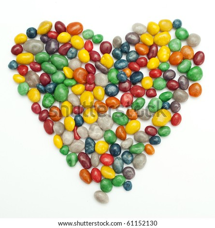 colorful chocolat tabs close-up - stock photo